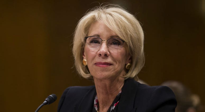 Secretary of Education Betsy DeVos told senators that she was not personally involved in the decision to propose eliminating funding for the Special Olympics, but continued to defend the cut included in her department's budget.