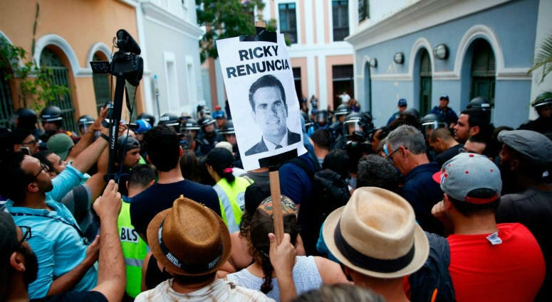 Protesters have marched in Old San Juan for days calling for the governor's resignation.