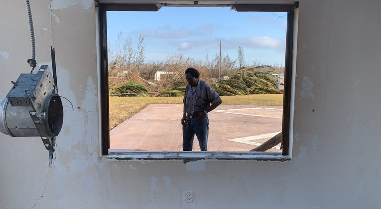 """""""Grand Bahama right now is dead,"""" resident Washington Smith says. His home and business were destroyed by the storm."""