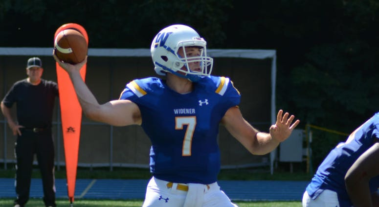 Junior quarterback Sean McGaughey threw for 1,734 yards and seven touchdowns last season for Division III Widener University
