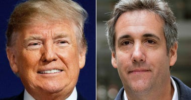 This combination photo shows President Donald Trump and attorney Michael Cohen. The audio recording of Trump and his then-lawyer, Cohen, captures the two men discussing hush money payments to a former Playboy model alleging an affair.
