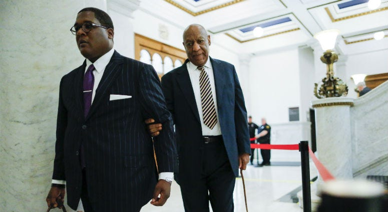 Norristown, PA, USA; Bill Cosby arrives at the Montgomery County Courthouse.