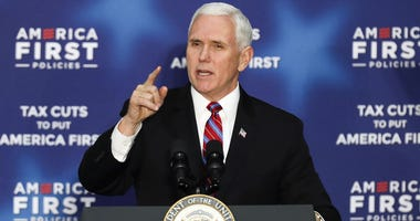 Vice President Mike Pence spoke to a crowd at an America First event.