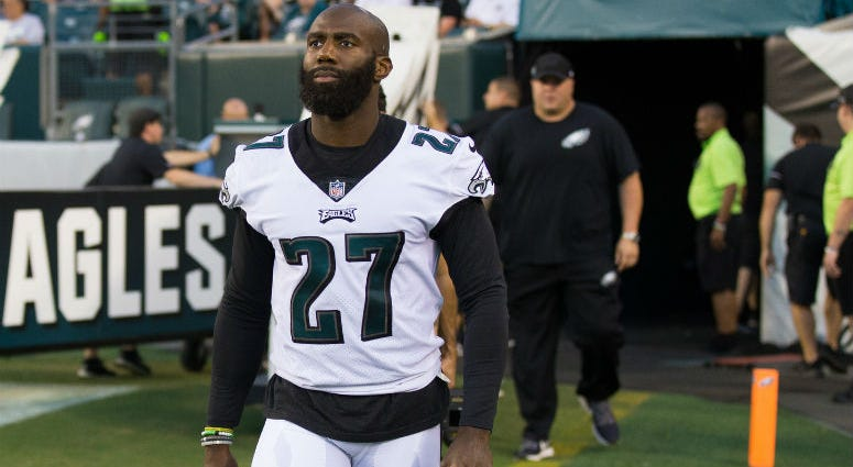 Aug 30, 2018; Philadelphia, PA, USA; Philadelphia Eagles defensive back Malcolm Jenkins (27) walks out of the tunnel after the national anthem before a game against the New York Jets at Lincoln Financial Field.