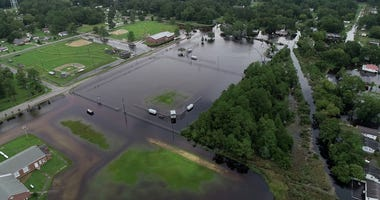 Drone photos of local flooding in North Carolina.