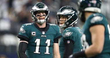 Carson Wentz (11) and Nick Foles (9)