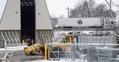 A PennDOT salt storage area on January 13, 2019.