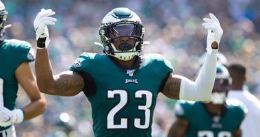 Philadelphia Eagles free safety Rodney McLeod (23) before action against the Detroit Lions at Lincoln Financial Field.