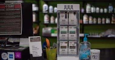 JUUL pods for sale at Exscape Smoke Shop and Vape Lounge on Monroe Avenue in downtown Rochester, NY, Monday, Oct. 7, 2019.