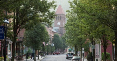 Jim Thorpe, Pa., is now thriving on tourism, including hiking, biking and whitewater rafting.