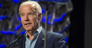 Former Vice President Joe Biden addressed a crowd at Saint Joseph's University.