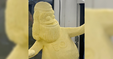 Butter sculpture of Gritty