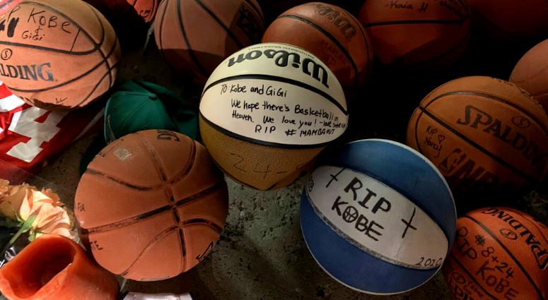 Kobe Bryant memorial at Lower Merion High School