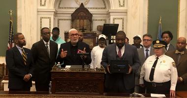 Anti-violence advocates at City Hall