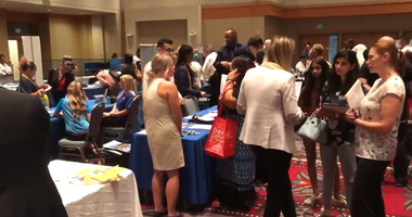 With the closure of Hahnemann University Hospital just days away, the City of Philadelphia hosted a job and resource fair Thursday at the Pennsylvania Convention Center for Hahnemann employees, and employers came from all across the region.