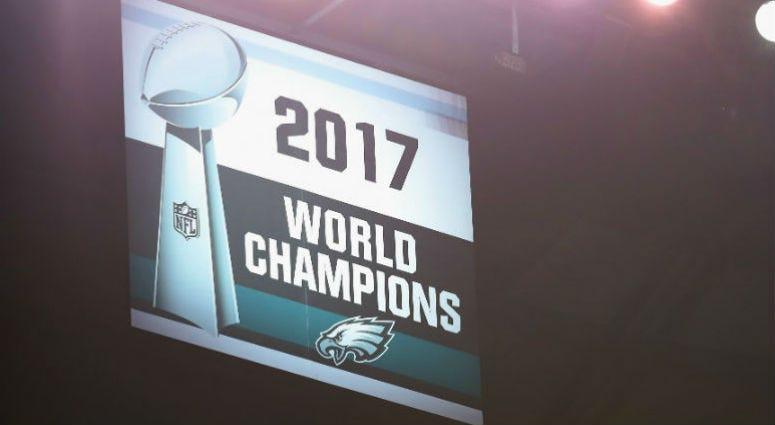 Philadelphia Eagles Super Bowl LII championship banner