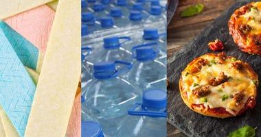 Gum, Water, Pizza Bagels