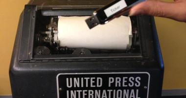 A teletype machine
