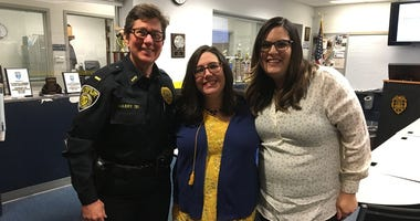From left: Lt. Karen Mabry, Kristin Jackowski and Katie Greble