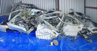 ATF shows photos of a reconstruction of the vehicle that exploded in Allentown.