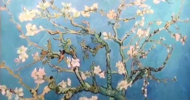 "A reproduction of ""Almond Blossoms"" by Vincent van Gogh is part of a pop-up exhibition at King of Prussia Mall."