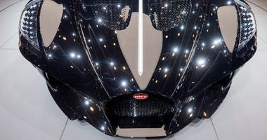 The new car Bugatti La voiture Noire is presented during the press day at the '89th Geneva International Motor Show' in Geneva, Switzerland, Tuesday, March 5, 2019.