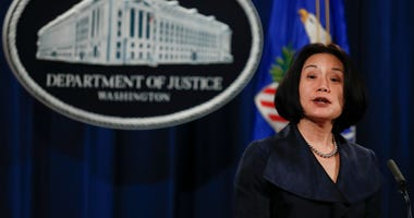 In this Dec. 15, 2017 file photo, Jessie Liu, U.S. Attorney for the District of Columbia, speaks during a news conference at the Justice Department in Washington.