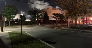 There was an explosion and fire at this asphalt tank in Gloucester City at the Blueknight Energy Partners plant on Water Street.