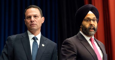 Pennsylvania Attorney General Josh Shapiro and New Jersey Attorney General Gurbir Grewal