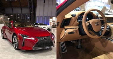 The new Lexus LC500 exterior and interior are shown at the 2020 Philadelphia Auto Show.