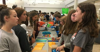 Lower Merion students participated in a backpack stuffing race for charity — and also attempted to break a Guinness World Record for stuffing the most backpacks with school supplies in the least amount of time.