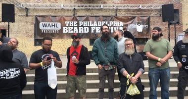 Some of the contestants at the 2018 Philadelphia Beard Festival