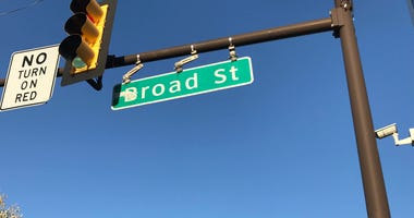 A sign of Broad Street.
