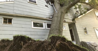Another round of severe weather leads to damage in parts of Bucks County. This is a home in Croydon.