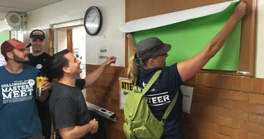 Crews spruce up Camden schools.