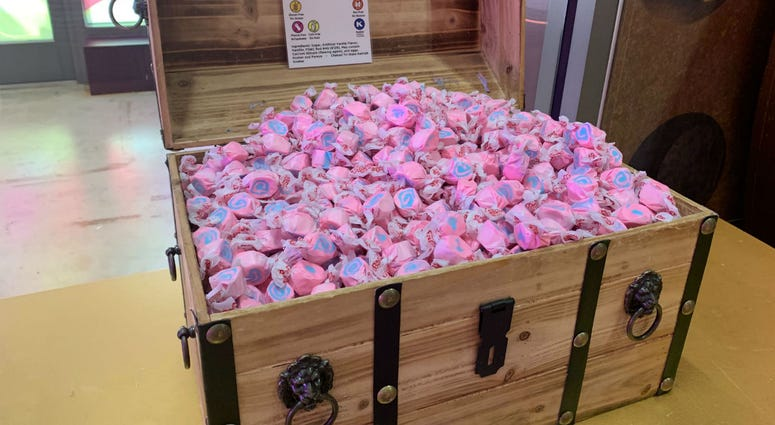 A treasure chest of cotton candy taffy.