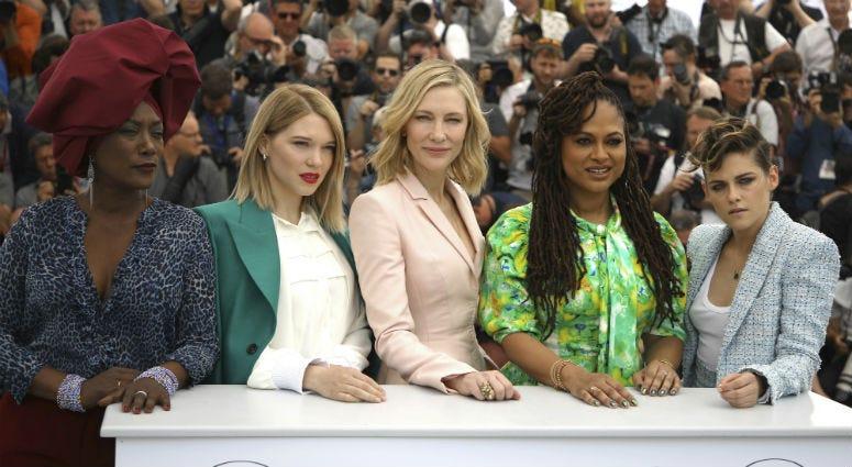 Cannes jury members Khadja Nin, Lea Seydoux, Cate Blanchett, Ava Duvernay and Kristen Stewart