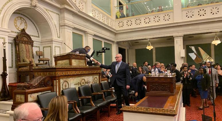 Mayor Jim Kenney at a budget address at City Council.