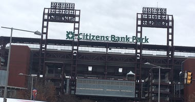 An outside view of Citizens Bank Park