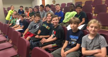 Philadelphia Boys Choir boot camp participants