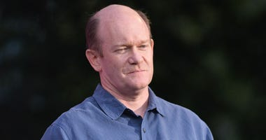 United States Sen. Chris Coons speaks at the 2018 Global Citizen Festival on the Great Lawn in Central Park, NY, on September 29, 2018.
