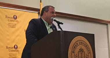 Former N.J. Gov. Chris Christie made hihis first public appearance since leaving the governor's office
