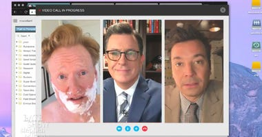 Stephen Colbert, Jimmy Fallon and Conan O'Brien