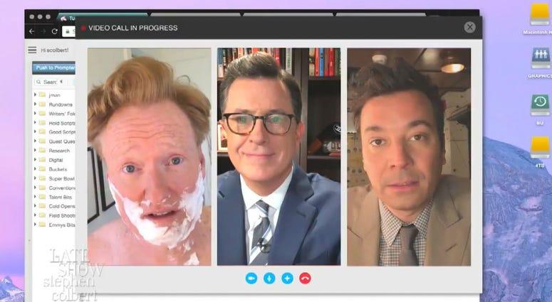 Stephen Colbert, Jimmy Fallon and Conan O'Brien