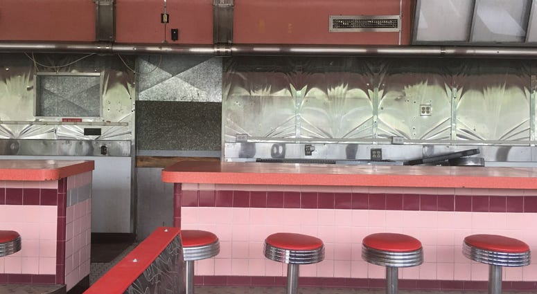 Interior of the former Mickey's Windham Diner.