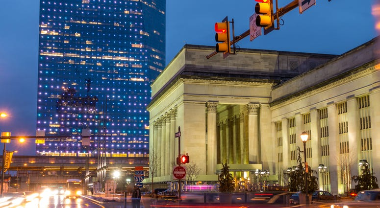 PHILADELPHIA, PA. - March 13 : 30th Street Station, a national Register of Historic Places, AMTRAK Train Station in Philadelphia, PA on March 13, 2016