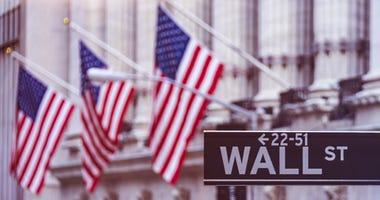 Financial district in Manhattan