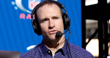 NFL quarterback Drew Brees of the New Orleans Saints speaks onstage during day 3 of SiriusXM at Super Bowl LIV on January 31, 2020 in Miami, Florida.