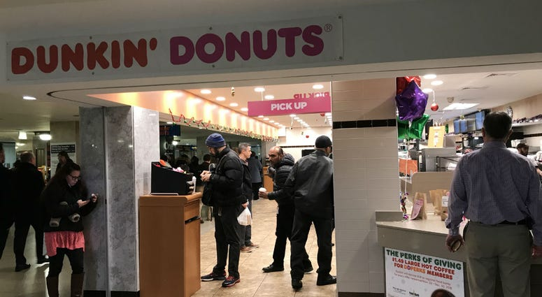 Dunkin' Donuts at Suburban Station in Center City Philadelphia.