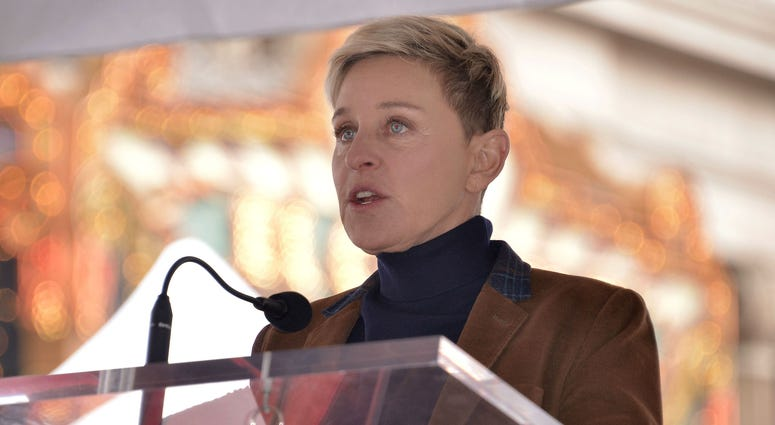 Ellen DeGeneres at the Pink Star On The Hollywood Walk Of Fame Ceremony held in front of Hollywood & Highland in Hollywood, CA on Tuesday, February 5, 2019.